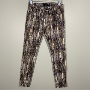 BDG High Rise Cigarette Ankle Printed Jeans